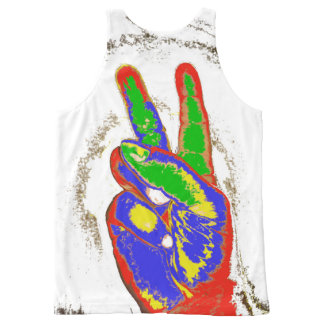 MKFMJ Peace Sing All-Over Print Singlet