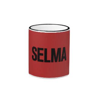 MLK Day- Selma Black on Red Mugs