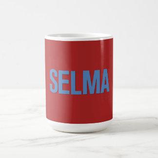 MLK Day-Selma Blue on Red Mug
