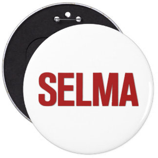 MLK Day-Selma Red 6 Cm Round Badge