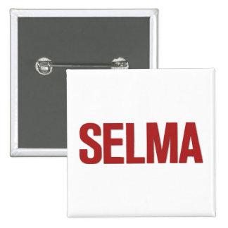 MLK Day-Selma Red 15 Cm Square Badge