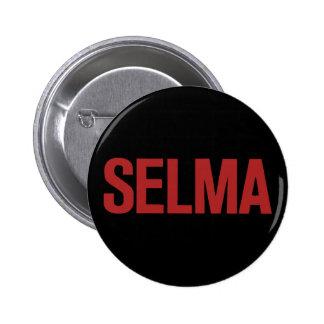 MLK Day-Selma-Red on Black 6 Cm Round Badge