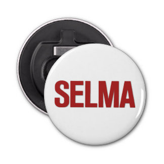 MLK Day-Selma Red Button Bottle Opener