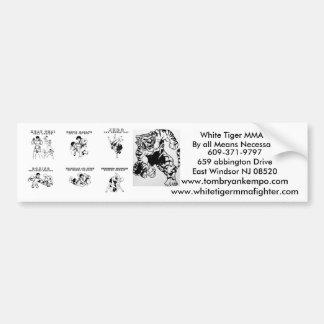 mma all arts, upper cut tiger, White Tiger MMA,... Bumper Sticker