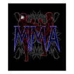 MMA fighters poster