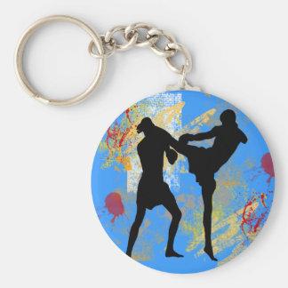 MMA Head Kick Key Ring