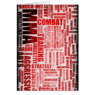 MMA Mixed Martial Arts Card