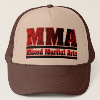 MMA Mixed Martial Arts Chain & Blood Trucker Hat
