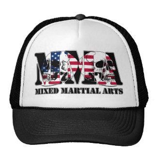 MMA Mixed Martial Arts Japan Flag & Skulls Mesh Hats