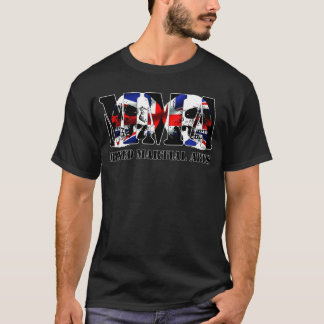 MMA Mixed Martial Arts UK Flag & Skulls T-Shirt