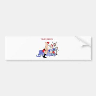 MMA Santa Vs Jack Frost Bumper Sticker