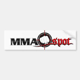 MMA Spot Bumper Sticker - White