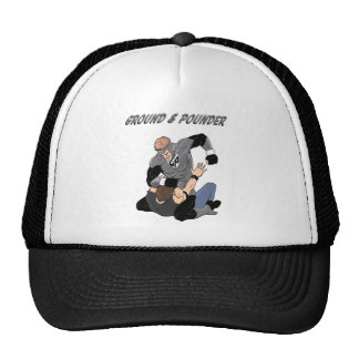 MMA Superhero The Ground and Pounder Hats
