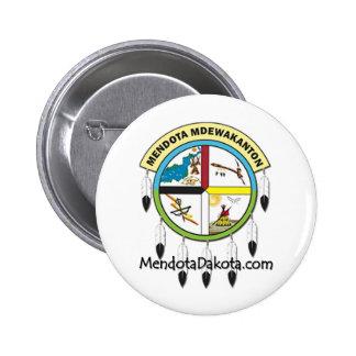 MMDC Mendota Dakota Logo and Webs 6 Cm Round Badge