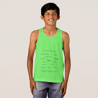 MMetropolim KIDS bella canvas Jersey Tank T-shirt