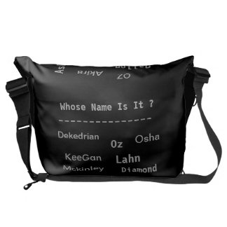 "MMetropoLim ""Whose Name Is It?Collection Rickshaw Messenger Bag"