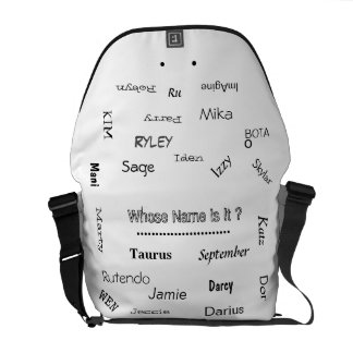 "MMetropoLim ""Whose Name Is It ? Collection"" unisex Courier Bag"