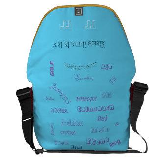 "MMetropolim ""Whose Name Is It? rickshaw bag Messenger Bags"