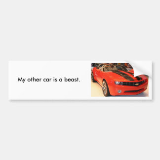 MMM (2), My other car is a beast. Bumper Sticker