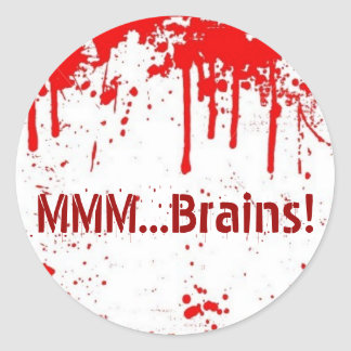 MMM...Brains Classic Round Sticker