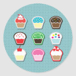 Mmm, Cupcakes! Round Stickers