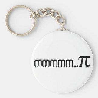 mmm...pi (pie) basic round button key ring