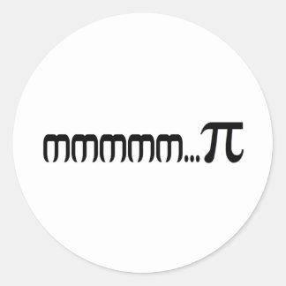 mmmm...PI Round Sticker
