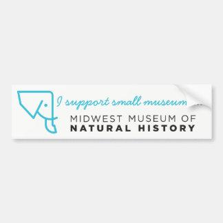 MMNH Blue Elephant Bumper Sticker