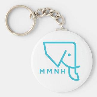 MMNH Blue Elephant Keychain