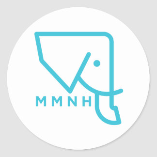 MMNH Blue Elephant Sticker