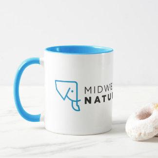 MMNH Blue White Logo Mug