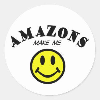 MMS Amazons Round Stickers