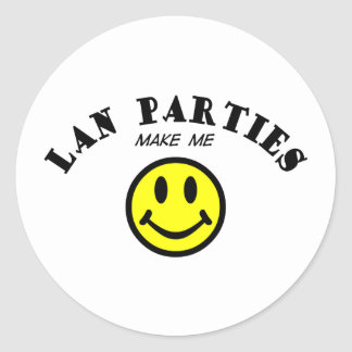 MMS: Lan Parties Classic Round Sticker