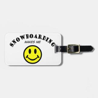 MMS: Snowboarding Luggage Tag