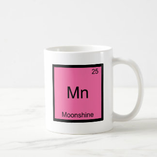 Mn - Moonshine Funny Chemistry Element Symbol Tee Coffee Mugs