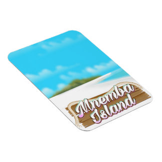 Mnemba Island travel poster Magnet
