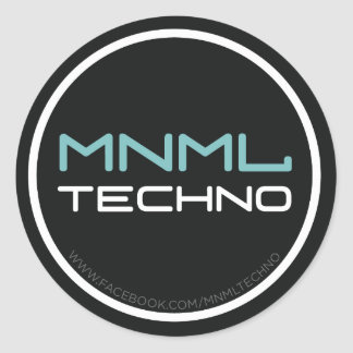 MNML techno sticker