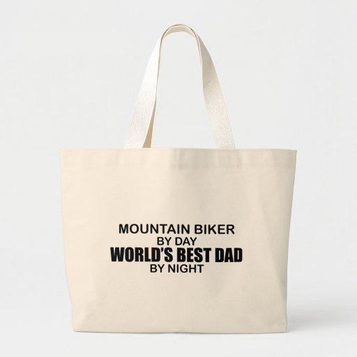 Mntn Biker - World's Best Dad Tote Bag