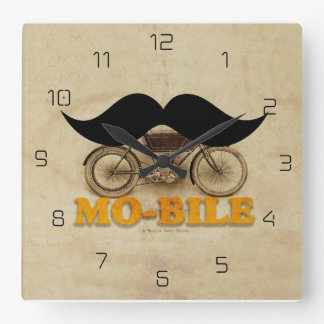Mo-bile Square Wall Clock