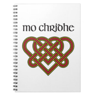 Mo Chridhe - My Heart in Gaelic Spiral Note Book