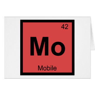 Mo - Mobile City Chemistry Periodic Table Symbol Greeting Card