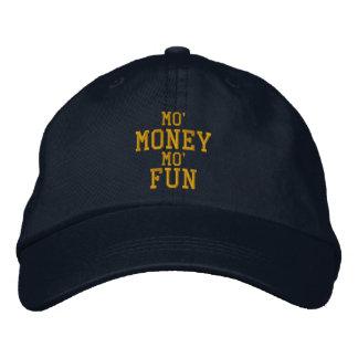 MO MONEY MO FUN Embroidered Cap Embroidered Baseball Cap