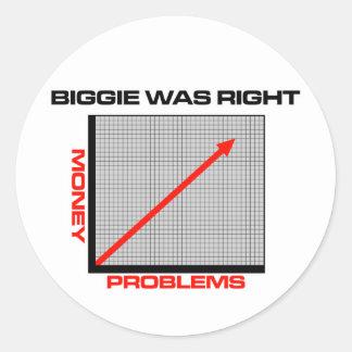 Mo Money More Problems Round Sticker
