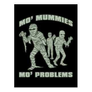 mo mummies mo problems funny halloween post card