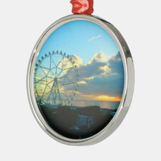 MOA Bay Walk Sunset, Phl., Premium Round Ornament