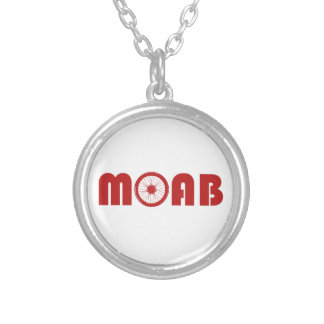Moab (Bike Wheel) Silver Plated Necklace