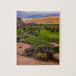 Moab Desert Canyon Golf Course at Sunrise Jigsaw Puzzle