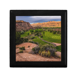 Moab Desert Canyon Golf Course at Sunrise Small Square Gift Box