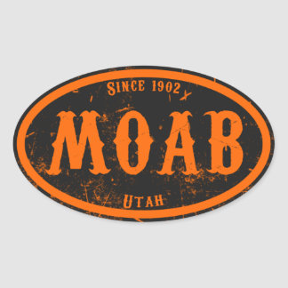 Moab Freakshow Oval Sticker