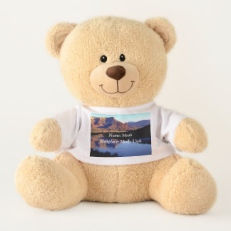 Moab Utah Teddy Bear with Custom Name Birthplace